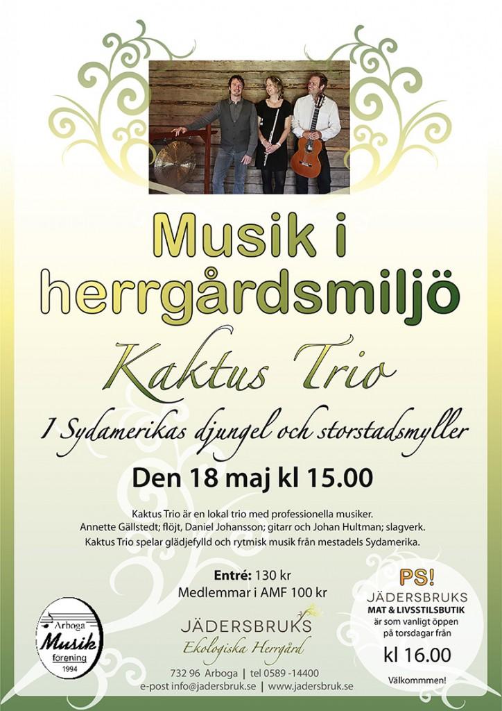 Konsert 18 maj Kaktus Trio A3