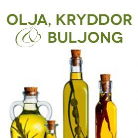 Kokosolja, Kryddor, Salt, Buljong & Olja